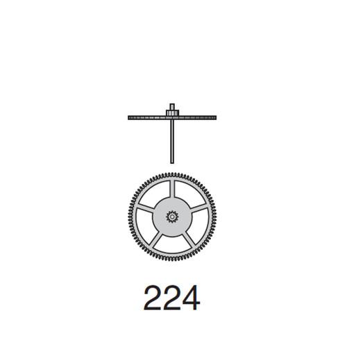 Valjoux 7750 Second Wheel SS Wheel