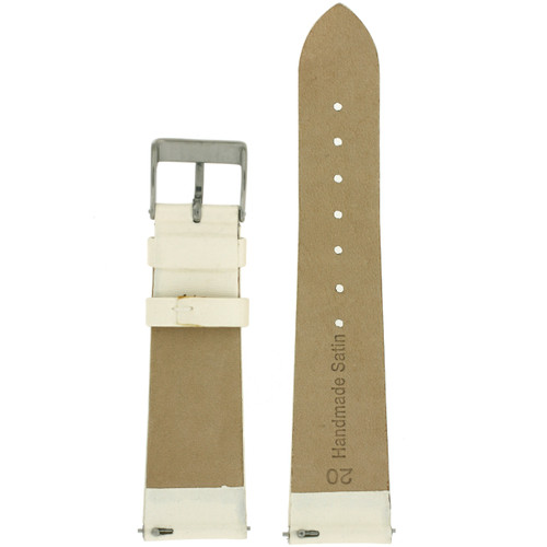 Ivory Satin Ladies Watch Band   LEA410   Watch Material   Replacement Straps   Interior