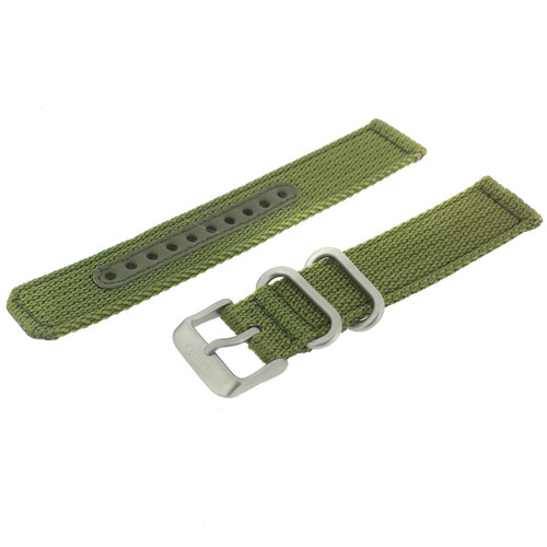 Seiko Watch Band Nylon Green | Seiko 4K11JZ  | Front