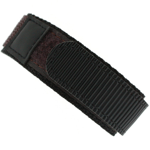 20mm Velcro Watch Band | 20mm Black Brown Contrast Sport Strap | 20mm Sport Watch Band | Watch Material VEL100BRN-20 | Main