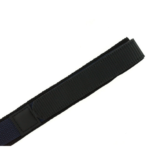 20mm Navy Velcro Watch Band | 20mm Black Navy Watch Strap | 20mm Sport Navy Watch Band | Watch Material VEL100N-20mm | Side