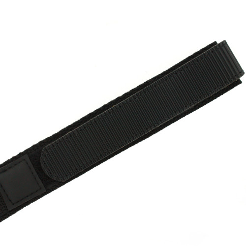 16mm Black Velcro Watch Band | 16mm Velcro Black Watch Strap | 16mm Sport Black Watch Band | Watch Material VEL100BLK-16mm | Long