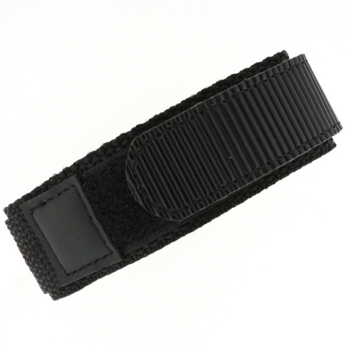 18mm Black Velcro Watch Band | 18mm Velcro Black Watch Strap | 18mm Sport Black Watch Band | Watch Material VEL100BLK-18mm | Back