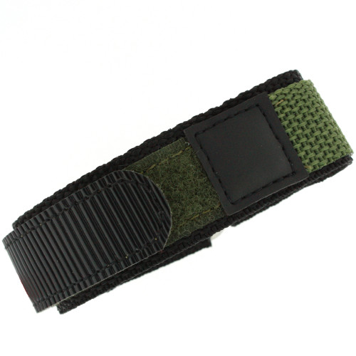 18mm Green Velcro Watch Band | 18mm Velcro Green Watch Strap | 18mm Green Sport Watch Band | Watch Material VEL100BLK-18mm | Main