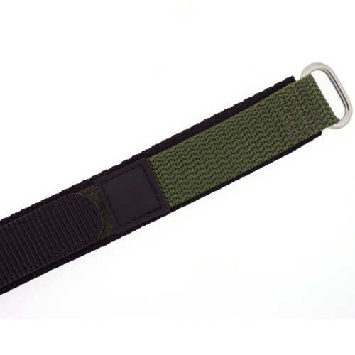 20mm Green Velcro Watch Band | 20mm Velcro Green Watch Strap | 20mm Green Sport Watch Band | Watch Material VEL100BLK-20mm | Clasp
