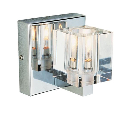 halogen lights in bathroom 1 light chrome halogen bath sconce 18643