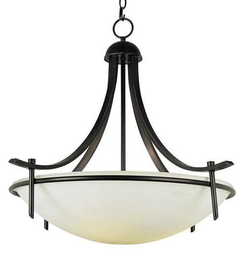 3 Light Rubbed Oil Bronze Pendant 8177ROB