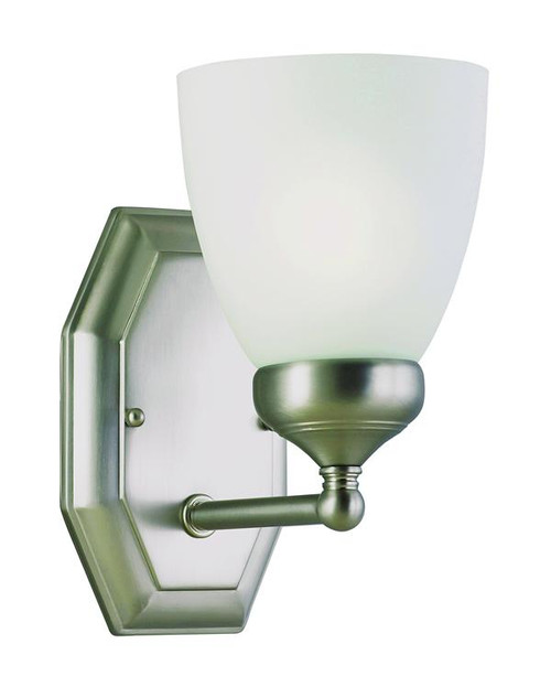 1 Light Antique Nickel Bath Sconce 2511AN