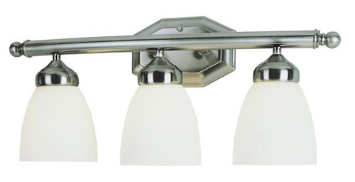3 Light Antique Nickel Bath Sconce