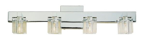 4 Light Chrome Crystal Halogen Bath Sconce 2844PC