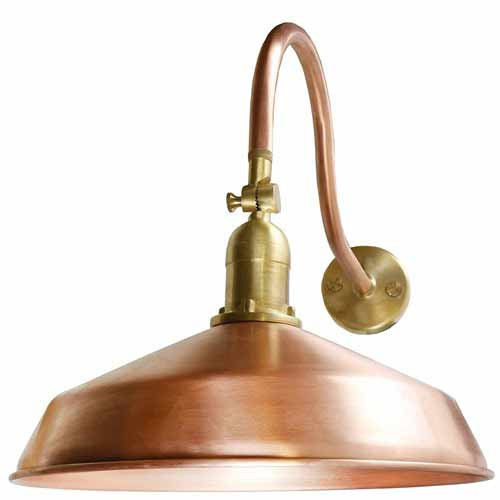 ... LED Outdoor Gooseneck Lighting   Raw Copper Barn Light   ADLXSV925RC