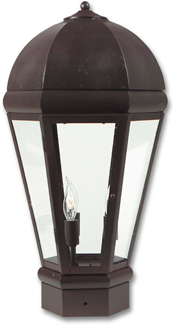 Pilaster Light XPC-065 shown in Cappuccino finish and crystal clear glass