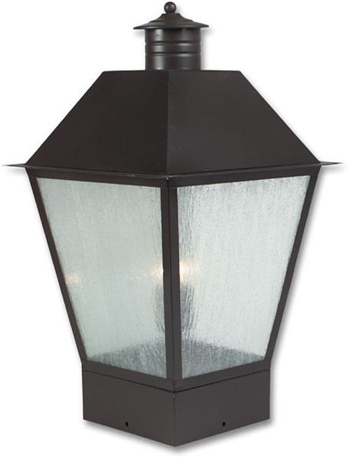 Pilaster Light XPC-027 in cappuccino and heavy seeded glass