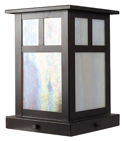 XPC-011 Pilaster Light in cappuccino finish and water glass option