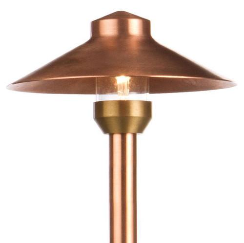 12V/120V LED Raw Copper China Hat Area Pathway Light - LED-PASH112-16-RC