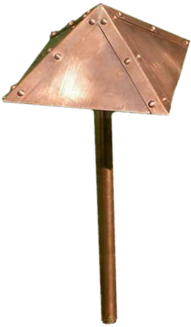 LED Pyramid Raw Copper Area Light LED-PASH900-CP
