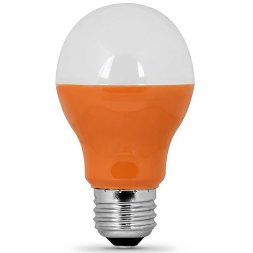 Mr16 Led Orange: 120V 3w LED Orange A19 Color Light Bulb (A19/O/LED) By