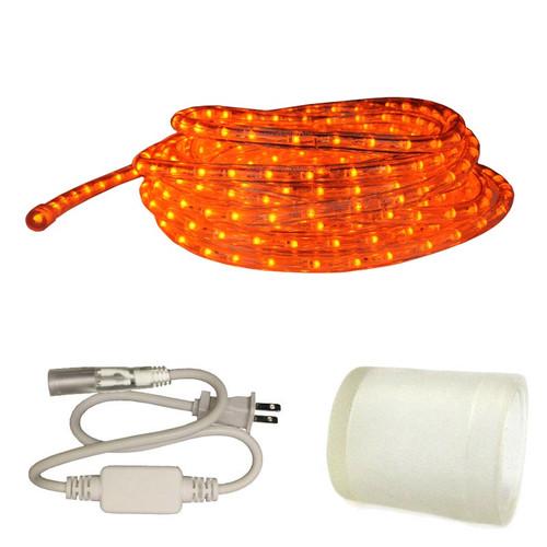 150 ft orange led rope light kit 120v ledropekits orange by aql 120v custom length orange led type 513 rope light 513pro series custom cut aloadofball Choice Image