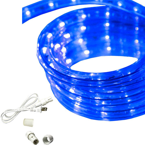 120v custom cut blue 3 wire chasing rope light cc 3w blue by aqlighting 120v custom cut blue chasing rope light aloadofball Image collections