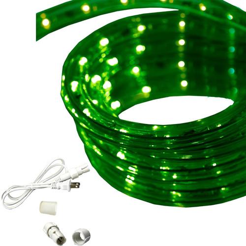 120 volt custom cut blue green 3 wire chasing rope light by aqlighting 120v custom cut green chasing rope light 12 diameter aloadofball Choice Image
