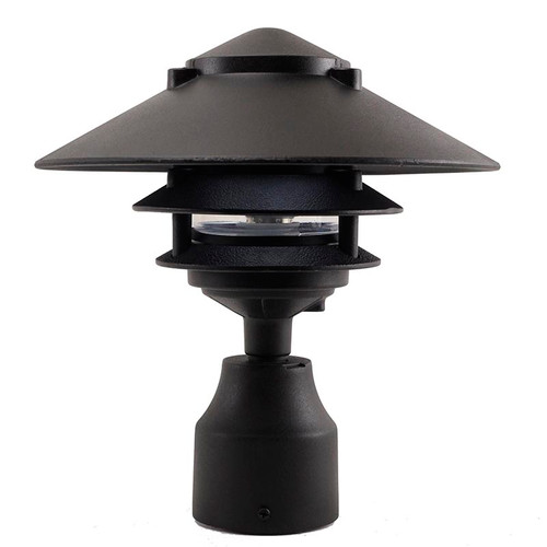 Led 3 tier pagoda post light led ppc351 by aqlighting 3 tier pagoda post light ppc351 in black aloadofball Gallery