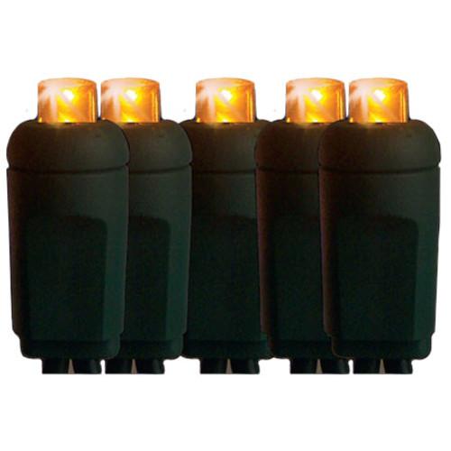 Yellow Outdoor Led Light Bulbs: 25' Yellow Mini 5MM Reflector LED Christmas Lights
