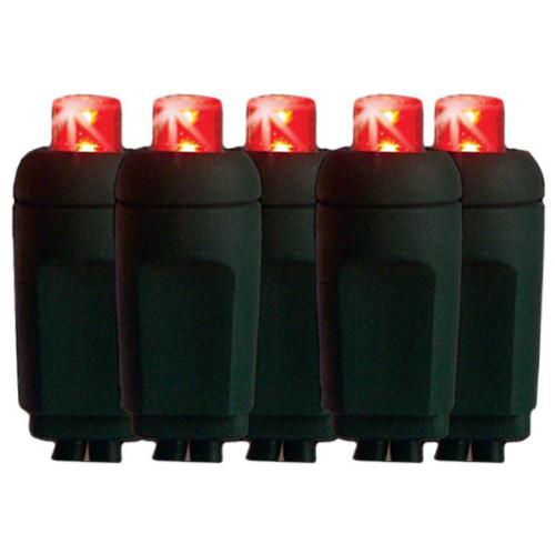 aqlighting 25 red mini 5mm reflector led christmas lights