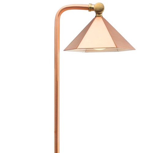 LED Raw Copper Hex Shade Pathway Light LED-PPG030C