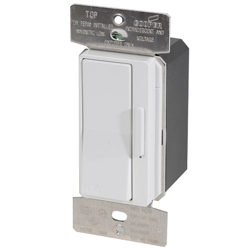 Devine 600w Inc Mlv Slide Dimmer 3 Way Light Switch Di06p By Cooper Wiring Devices