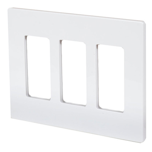 ASPIRE Triple Gang Screwless Wall Plate 9523 (shown in satin white)