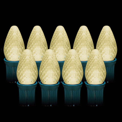 LED Warm White Faceted C7 Light Bulbs (25 count)