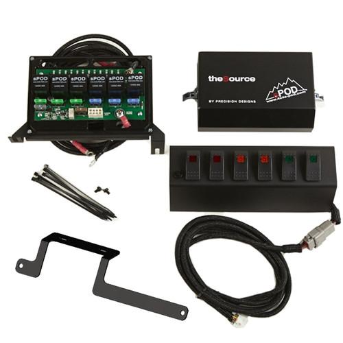 SPOD 6 LED Double Light Switch Control Switch System - Fits 2009-2011 JK Wrangler