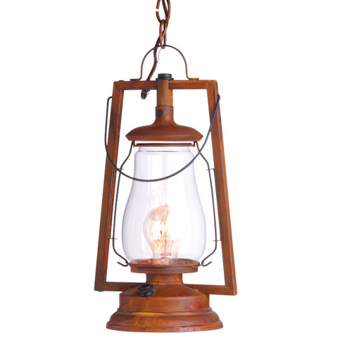 120V 49er Vintage Wood Wall Mount Lantern (75S-8) By