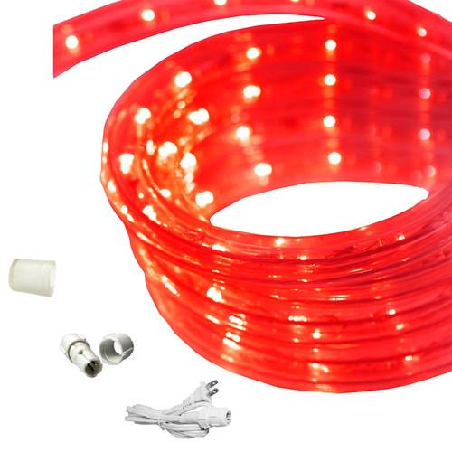 18 ft led rope light red 120 volt ez led 120 red 18 by aql aqlighting 18 ft red led rope light aloadofball Gallery