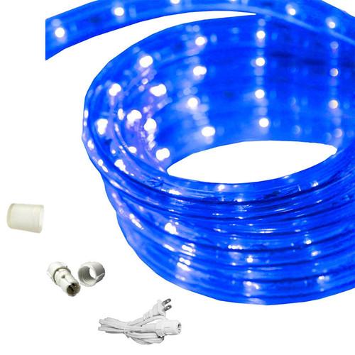 30 ft led rope light blue 120 volt ez led 120 blu 30 by aql aqlighting 30 ft blue led rope light aloadofball Images