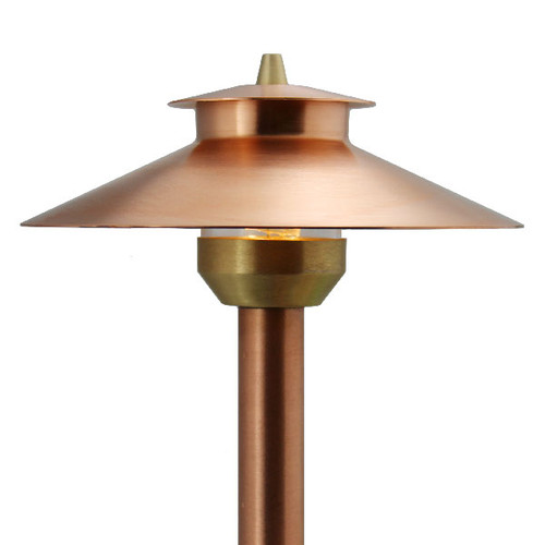 LED Raw Copper 2 Tier Path Light - Area Light - LED-PASH-AQ212-RC