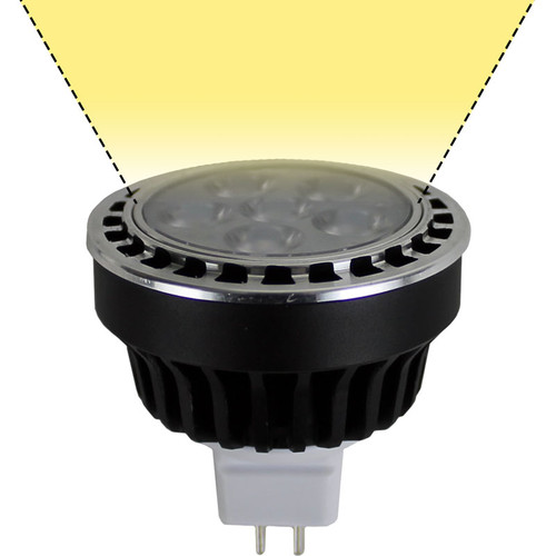 Mr16 Wide Flood: 12V 6w LED MR16 Warm White Wide Flood Light Bulb (LED16