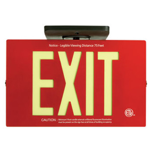 Non Electrical Photo Luminescent Exit Sign - CE90