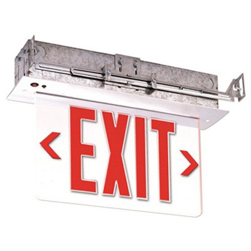 Recessed Red LED Edge-Lit Single/Dual Face Exit Sign - NX-509-LED