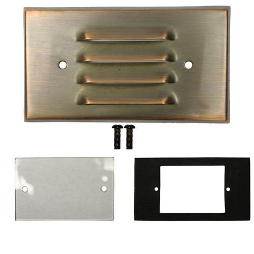 Brass Copper Louver Recessed Flush Mount Light Face Plate Replacement Kit Prlb Hs Fp Kit By Aql