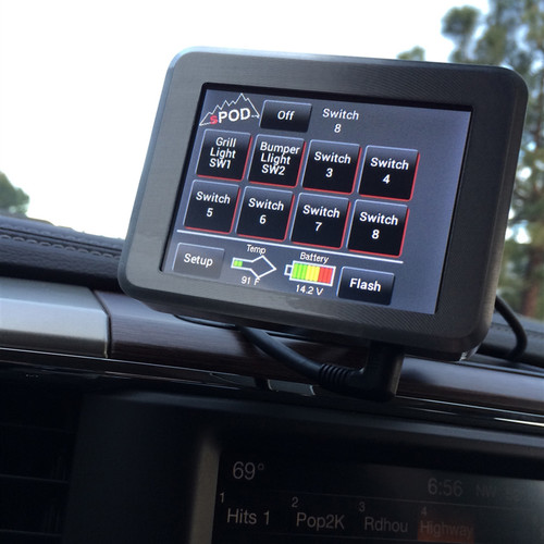Touchpad Special Edition 8 Circuit Light Control System - Jeep JK 2007-2015 - sPOD