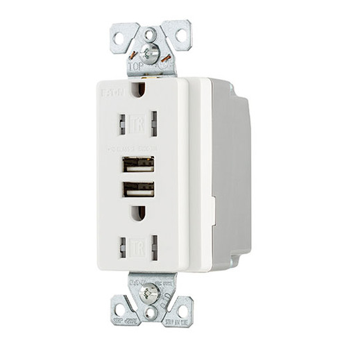 single gang commerical grade duplex receptacle w dual 3 1a usb rh affordablequalitylighting com Cooper Wiring Devices Cross Reference Cooper Complete Wiring