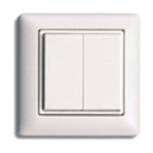 Wonderful European Style Self-Powered Dual Rocker Wireless Light Switch (E9T  GR77