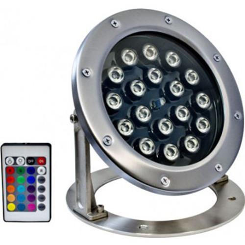 12v 18w grade 316 stainless steel led rgb underwater flood light lv dabmar aloadofball Image collections