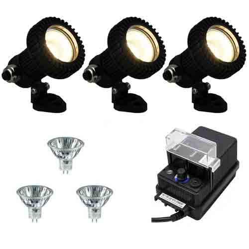 Outdoor Lighting Spotlights For Home Mini Microscope: 12V 3 Composite Mini Underwater Spotlight DIY Kit (3KIT