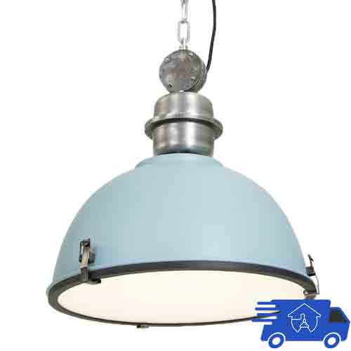 Large Industrial Warehouse Pendant Light - Warehouse Barn Hanging Pendant Light - Title 24 Compliant - 120V Italian Design