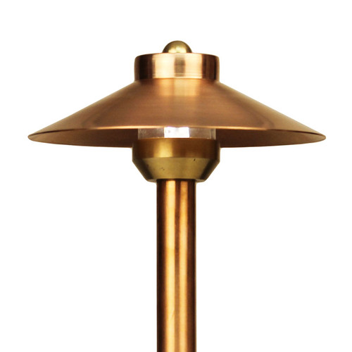 12V / 120V Raw Copper China Hat Pathway Area Light W