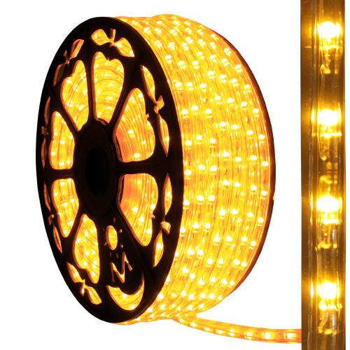 120v dimmable led amber rope light 150ft 513pro series ak led aqlighting 120v dimmable led amber type 513 rope light aloadofball Choice Image