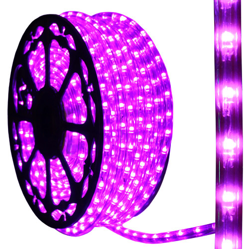 120v dimmable led purple rope light 150ft 513pro series ak led aqlighting 120v dimmable led purple type 513 rope light aloadofball Choice Image