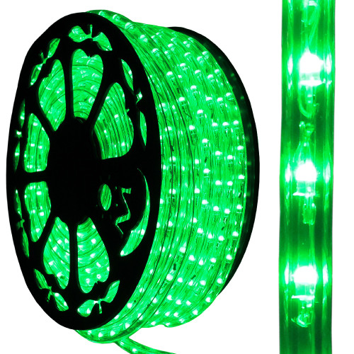120v dimmable led green rope light 150ft 513pro series ak led aqlighting 120v dimmable led green type 513 rope light mozeypictures Image collections